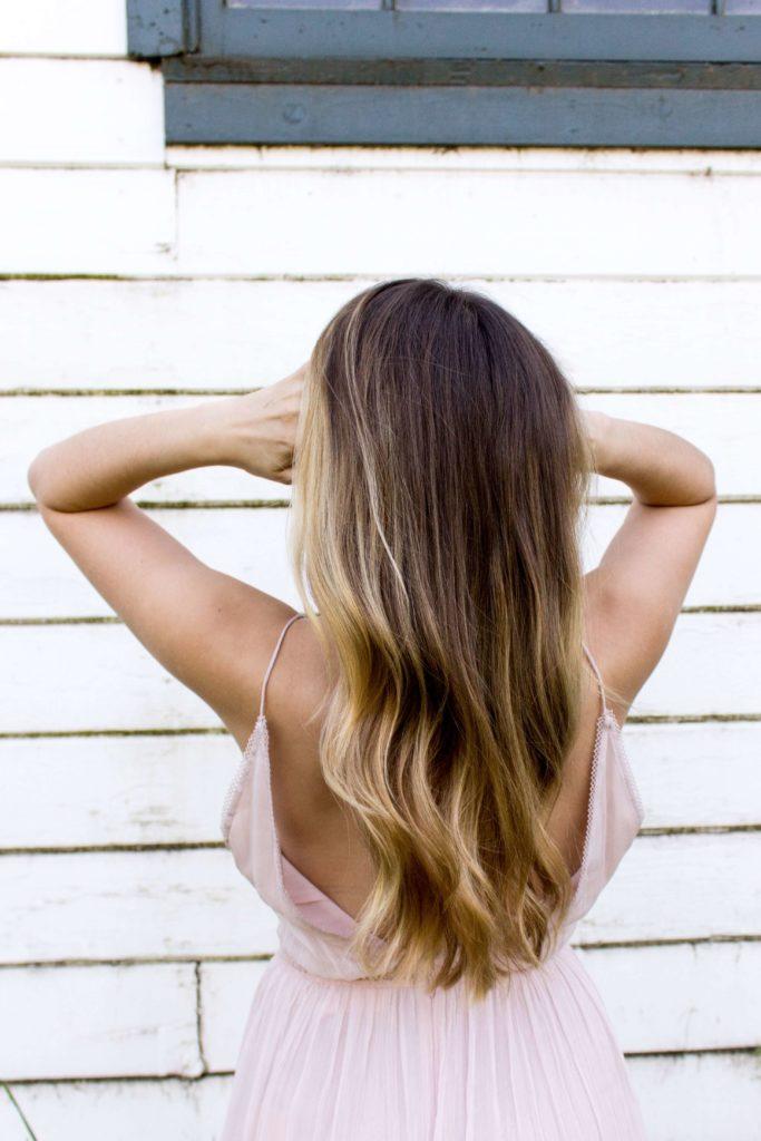 lång vårdat hår, balsammetoden
