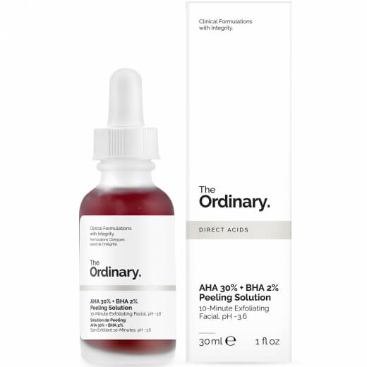 the ordinary aha 30 bha 2 peeling solution