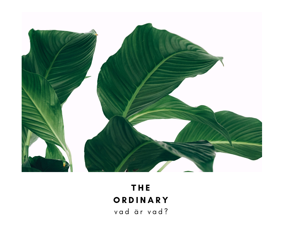 The ordinary vad är vad