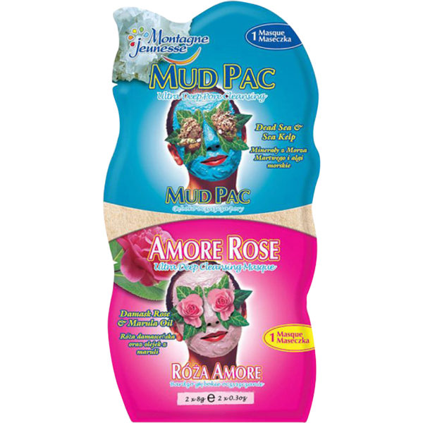 Mud Pac/Amore Rose 2x6ml,  7th Heaven Ansiktsmask