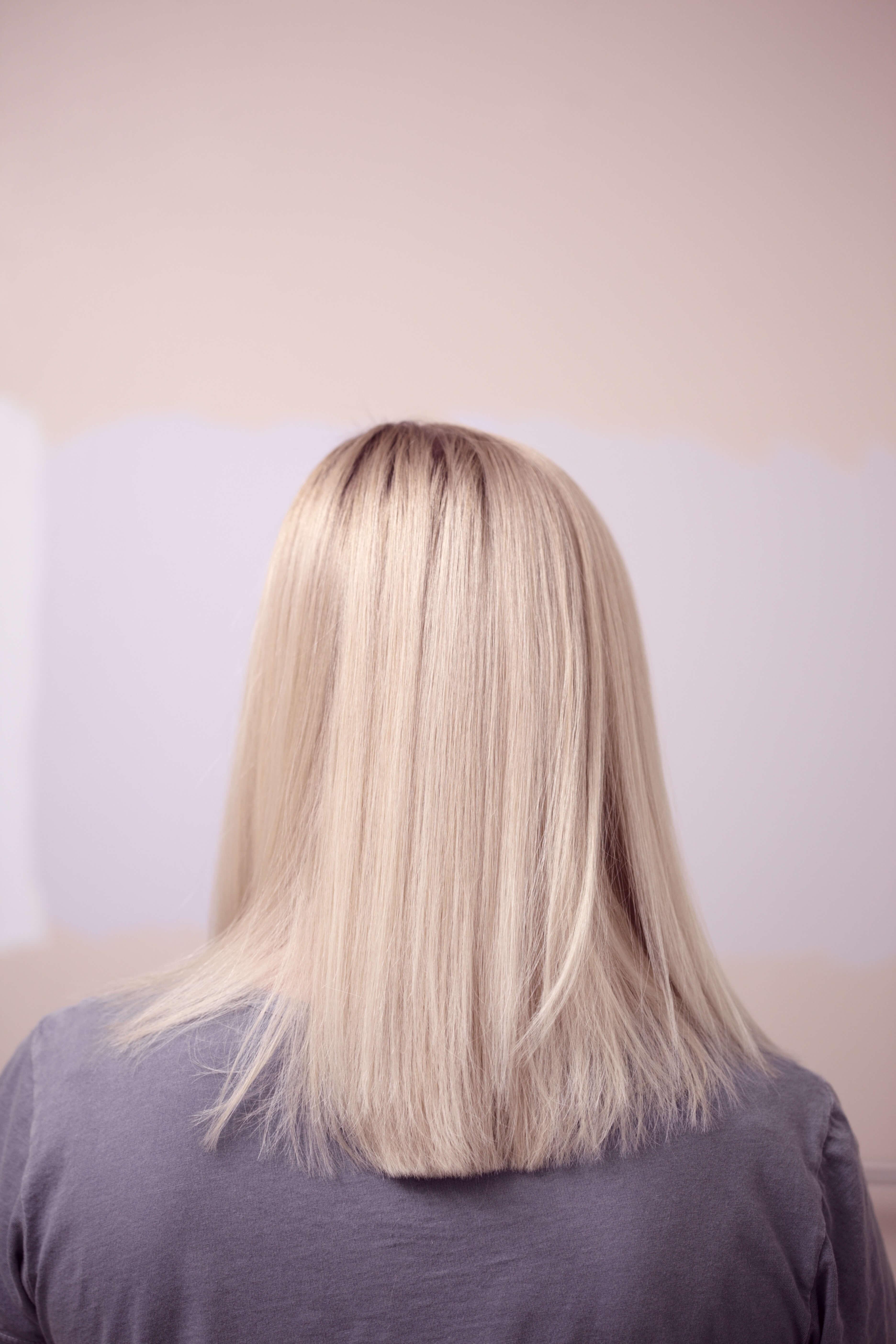 blont har med silverschampo